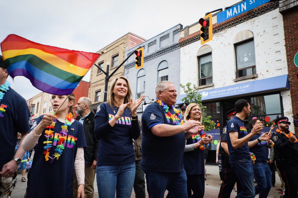 I was thrilled to attend #YorkPride today with @celliottability, @C_Mulroney and @Sflecce to celebrate community and #Pride. It was an honour to march alongside our @YRP men and women to celebrate inclusion and equality.