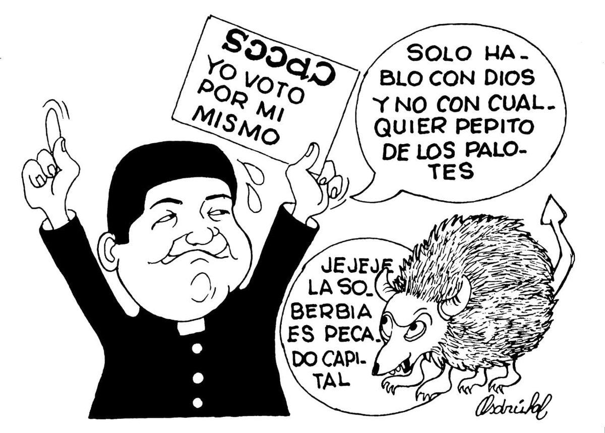 """La caricatura, de @AsdrubaldlTorre : la """"humildad"""" del cura Tuárez."""