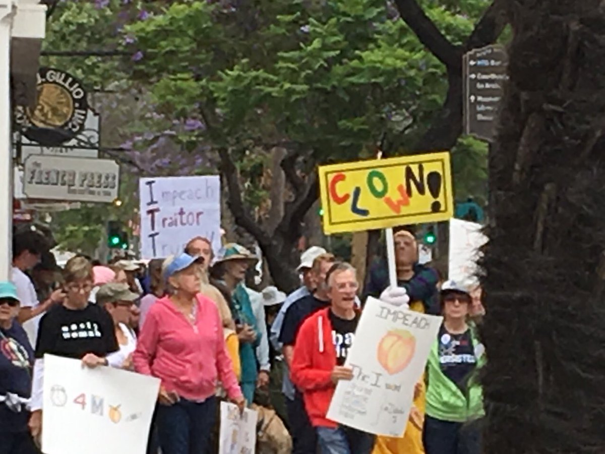 Great Impeachment March today in Santa Barbara! thank you @Teri_Kanefield for an inspiring speech and @IndivisibleSB /SBPC for organizing. #ImpeachmentMarch #ImpeachTrumpNow <br>http://pic.twitter.com/4aqmZiXVPU