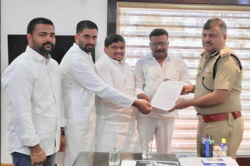 Telangana Congress has submitted a letter to the DGP, requesting him to withdraw the case against Telangana Youth Congress general secy Venkat Gurijala & 2 others for reproducing a post on social media based on a newspaper report regarding rising cases of missing women in state.