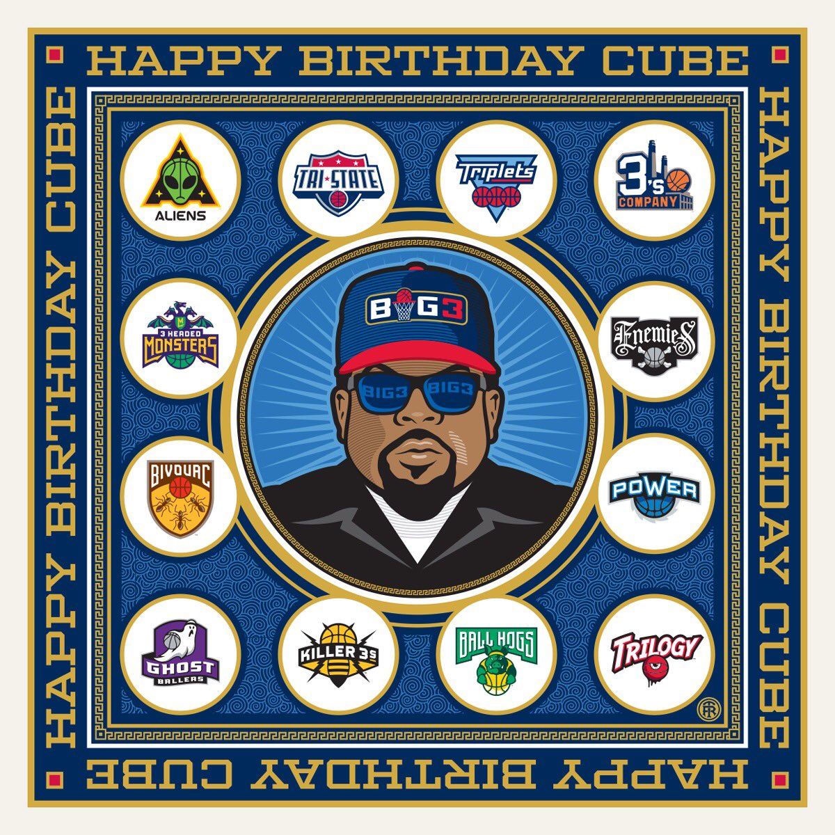 Shouting Happy Birthday to the Boss! @icecube cause you already know....Today Was A Good Day! #BIG3 Baby🏀