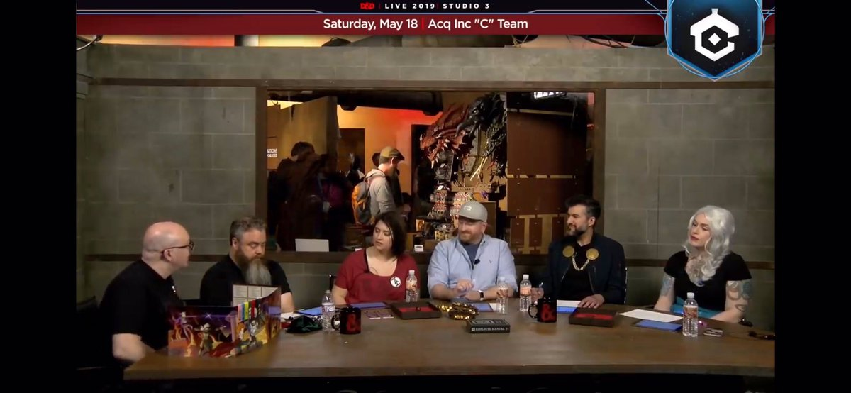 Do any of my twitter friends know the folks behind organizing #DnDLive2019? I'm looking for logistics intel for @GeekGirlCon, specifically about this table shape and how it worked (or didn't) for the streams.<br>http://pic.twitter.com/5nmZBeb90W