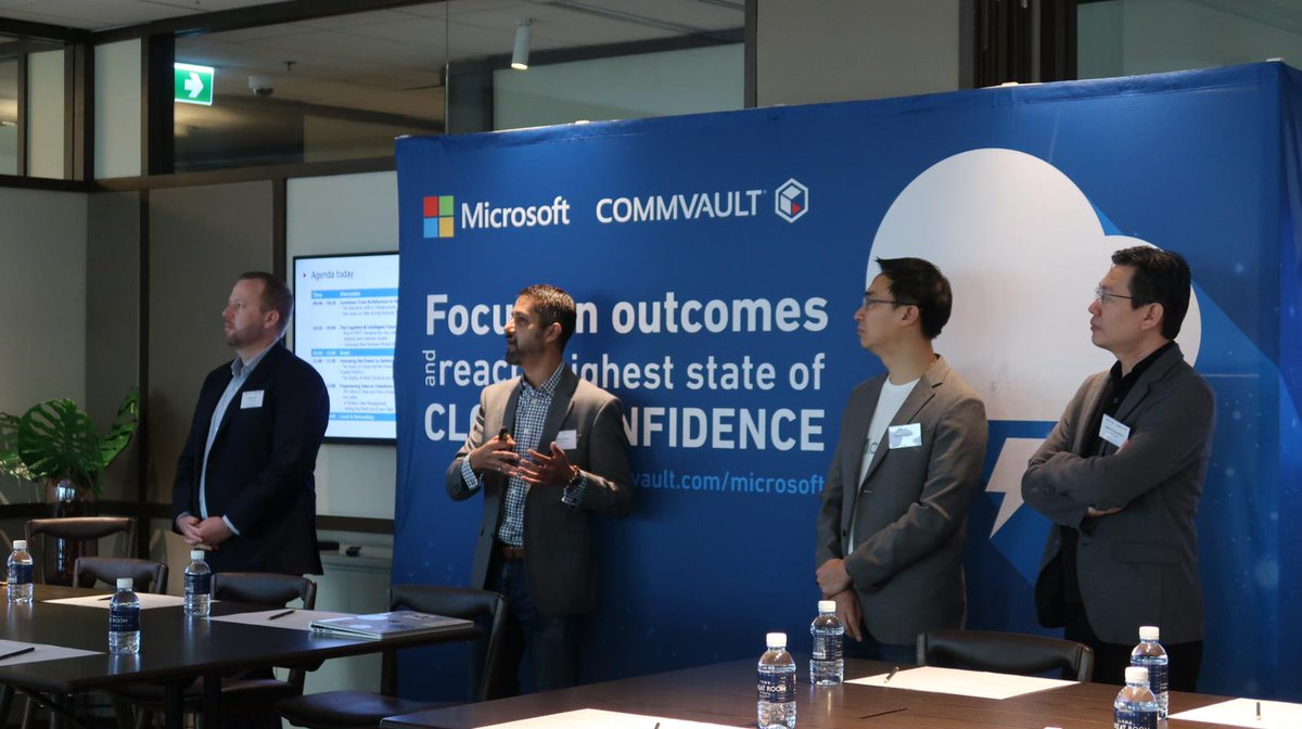 Good Morning from Bangkok! Live from #Microsoft and #Commvault Cloud confidence Roadshow. #Cloud #Azure