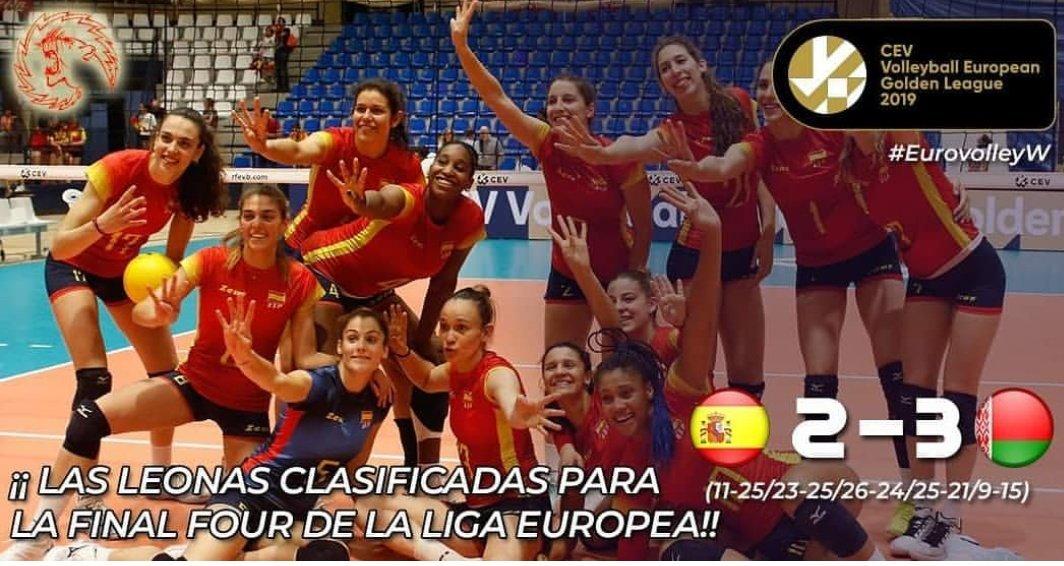 Grandes nuestras @VoleyFemAbs clasificadas para al #FinalFour #EuroleagueW siguen creciendo de cara al @CEVEuroVolley. Vamos España 🇪🇸🏐!