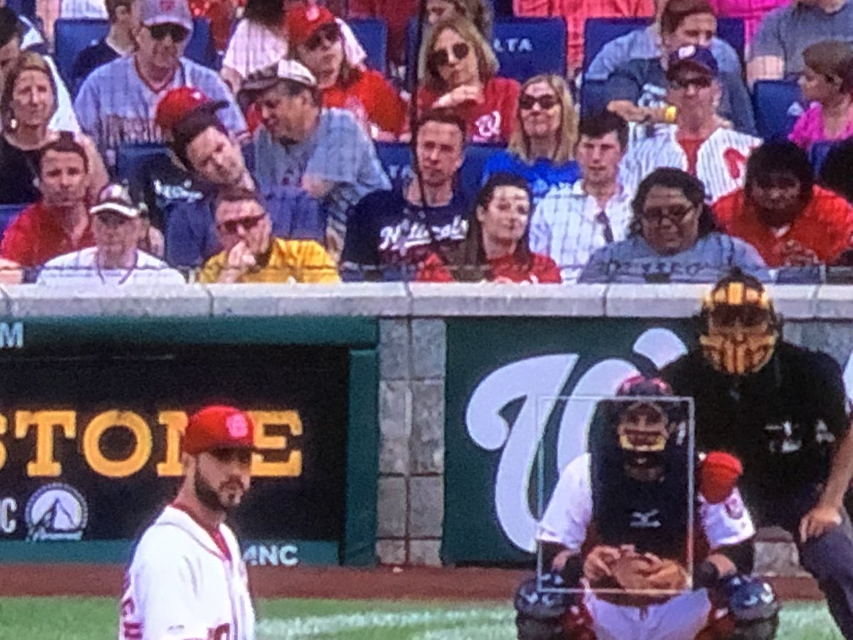 Who is pretending to be #captkirk at the @Dbacks @Nationals game in #DC?