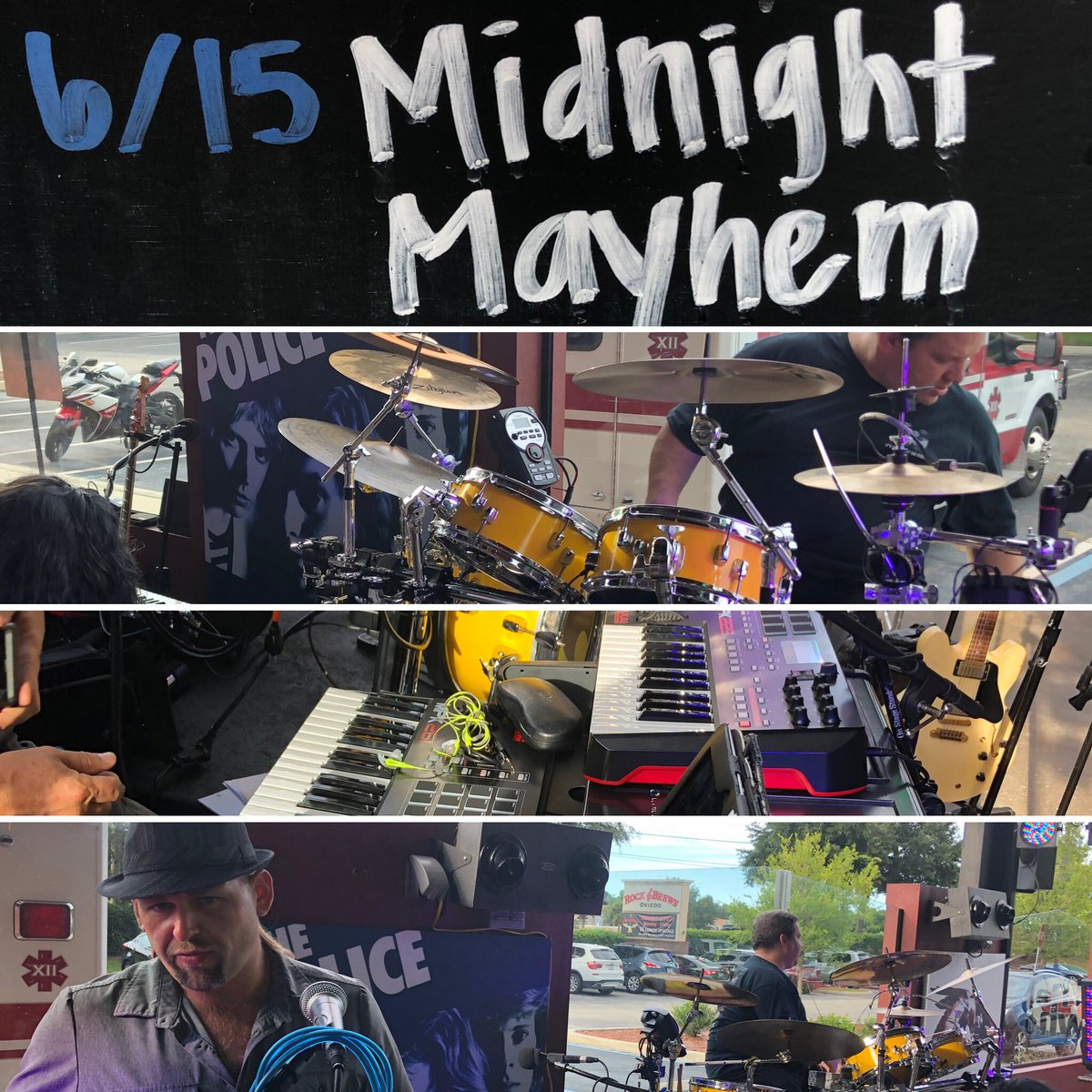 Getting set to rock the house at @rockandbrews #oviedo!  Come join us, it's a gorgeous night on the patio for #liveMusic #midnightmayhem #XIIMayhem – at Rock & Brews
