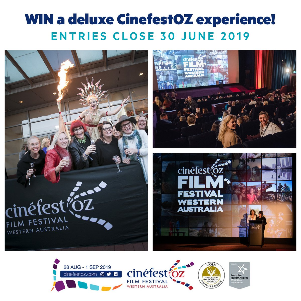 😎 Get treated like the star you are!  @cinefestoz are offering the chance for you and a friend to win a DELUXE CinefestOZ experience, including cinepasses, VIP wine tasting and more! 🥂💃✨  Entries close Sunday, 30 June 2019! 🏆 http://cinefestoz.com/cinefestoz-comp