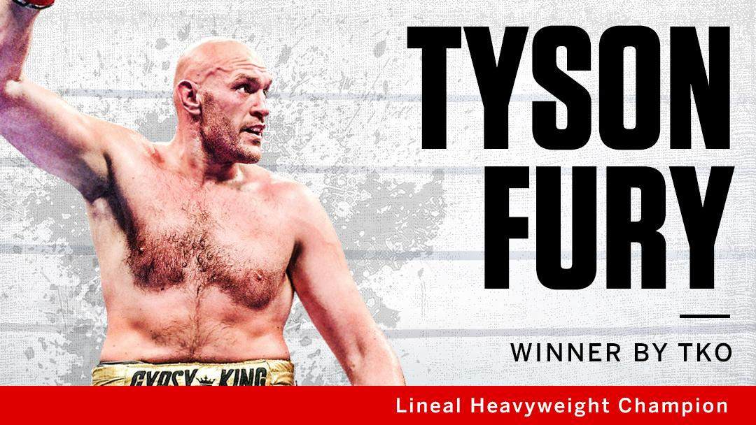 AND STILL! Tyson Fury defeats Tom Schwarz by TKO to remain lineal heavyweight champion! 🥊