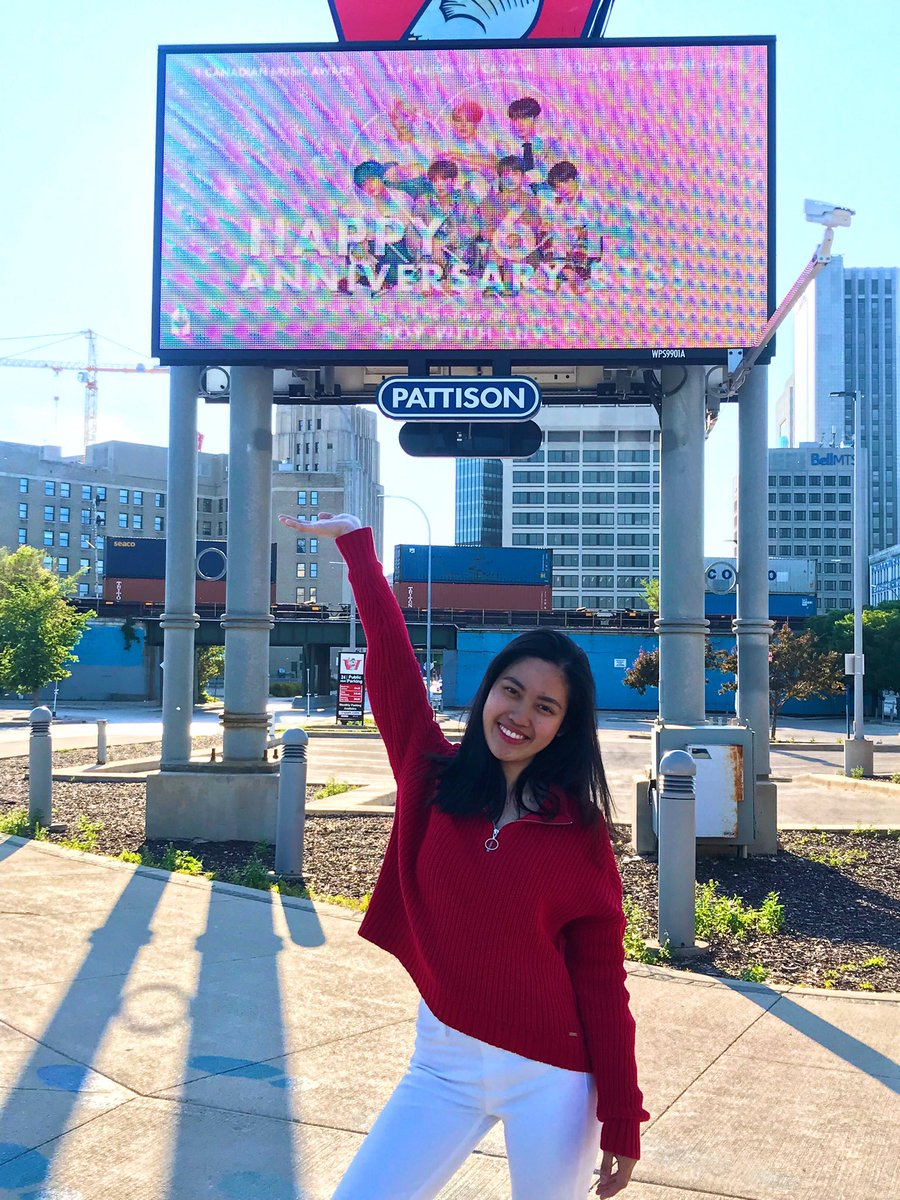 I was sick yesterday but I had to see the billboard ads before theyre gone  Thank you to those who designed them, armys who donated and made this possible, and @BTSxCanada for organizing this project!  It was amazing to see the ads in my city!  #BTSLuvFromCanada #BTSFESTA2019 <br>http://pic.twitter.com/VrJrDhj2ni