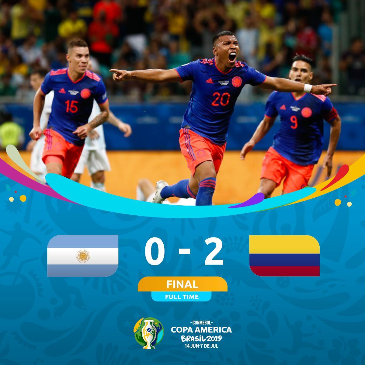 La Colombie surprend l'Argentine de Messi