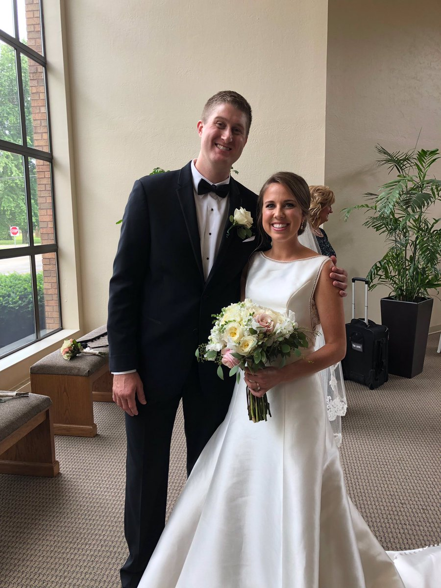 Congrats to Travis Carroll and his new wife Kathleen on their wedding day!   Best wishes from your #Purdue fam!