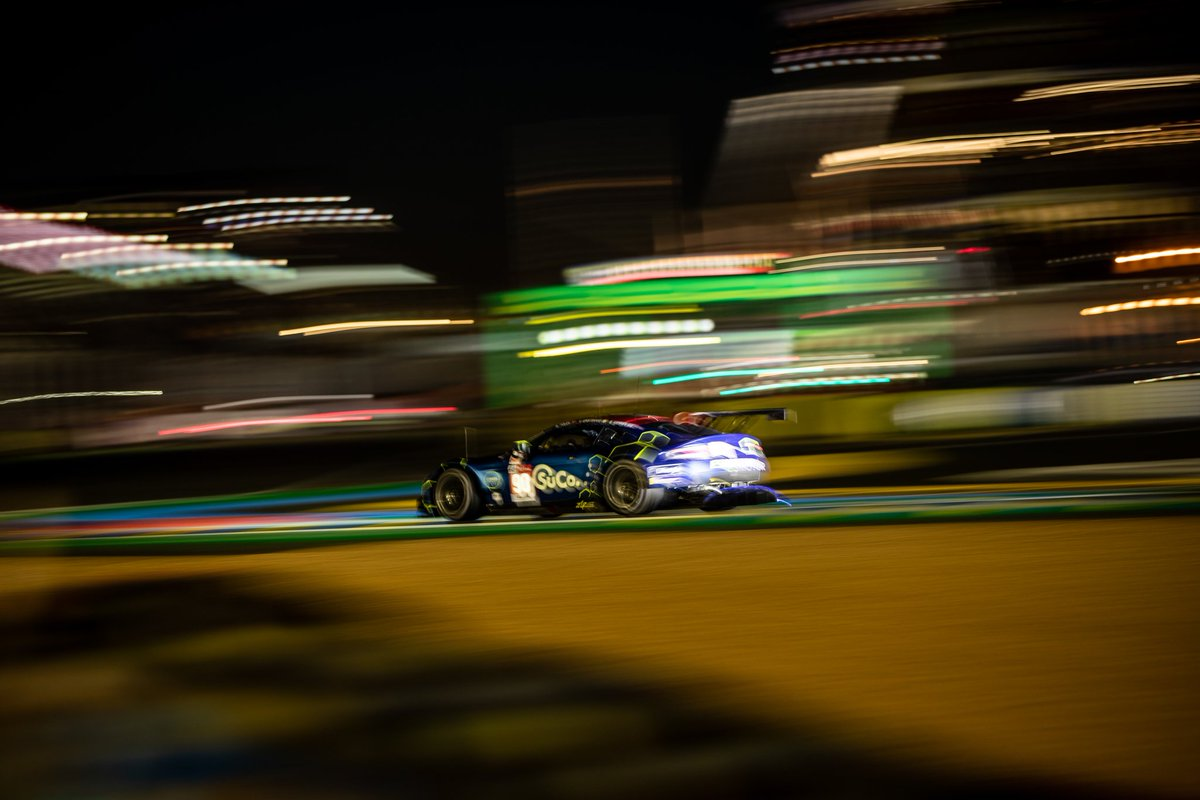11/24H  The last safety car has reshuffled the GTE AM class and Charlie now sits third with 150 laps completed.   #LeMans24 #WEC #SuperFinale