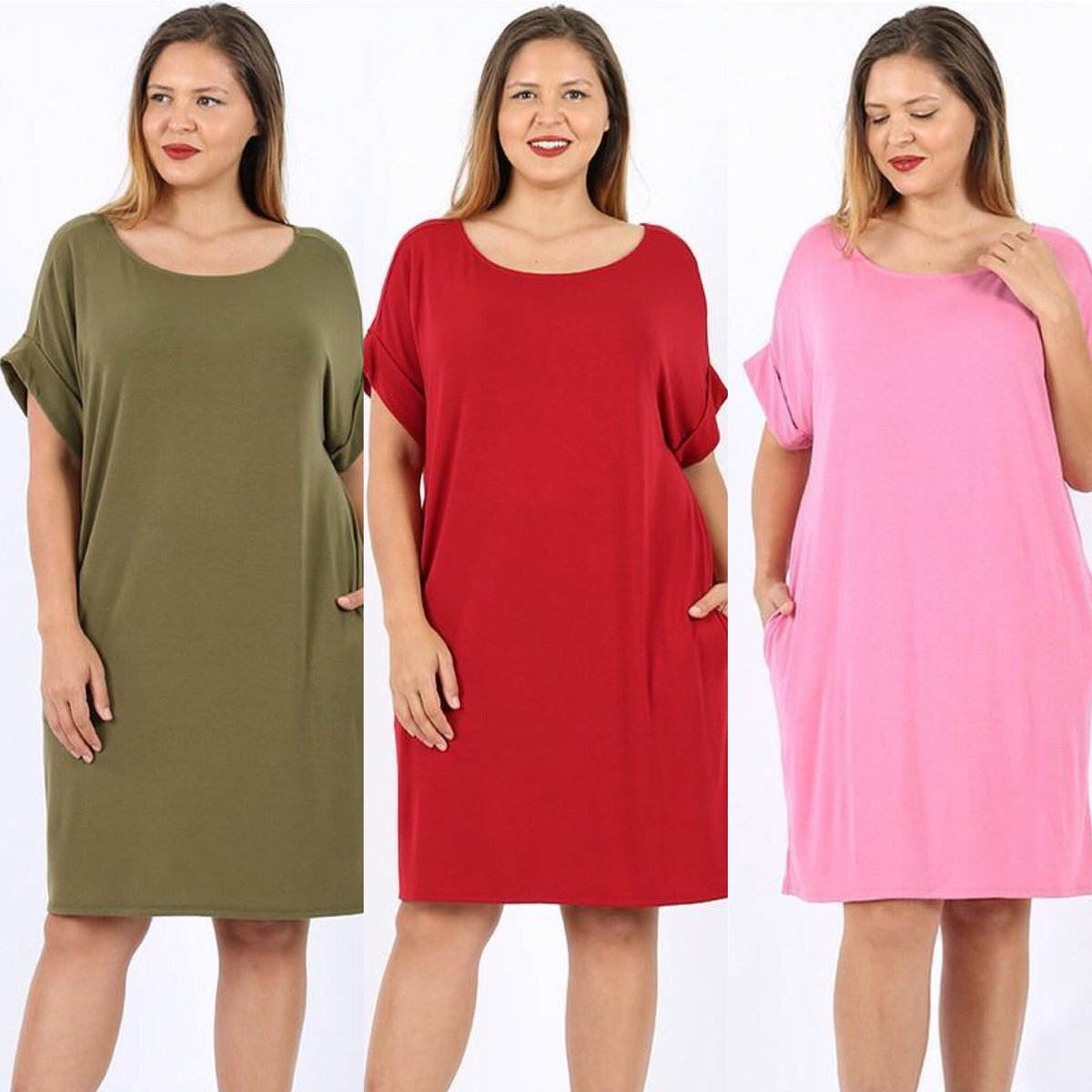 We are so thrilled to carry this darling favorite! Plus size T-shirt dress with pockets and rolled sleeves. 😍 $16.99 for a limited time.   https://t.co/G7xjA69J1e #plussize #tshirtdress #plussizefashion #SummerVibes https://t.co/hjyT96Biif