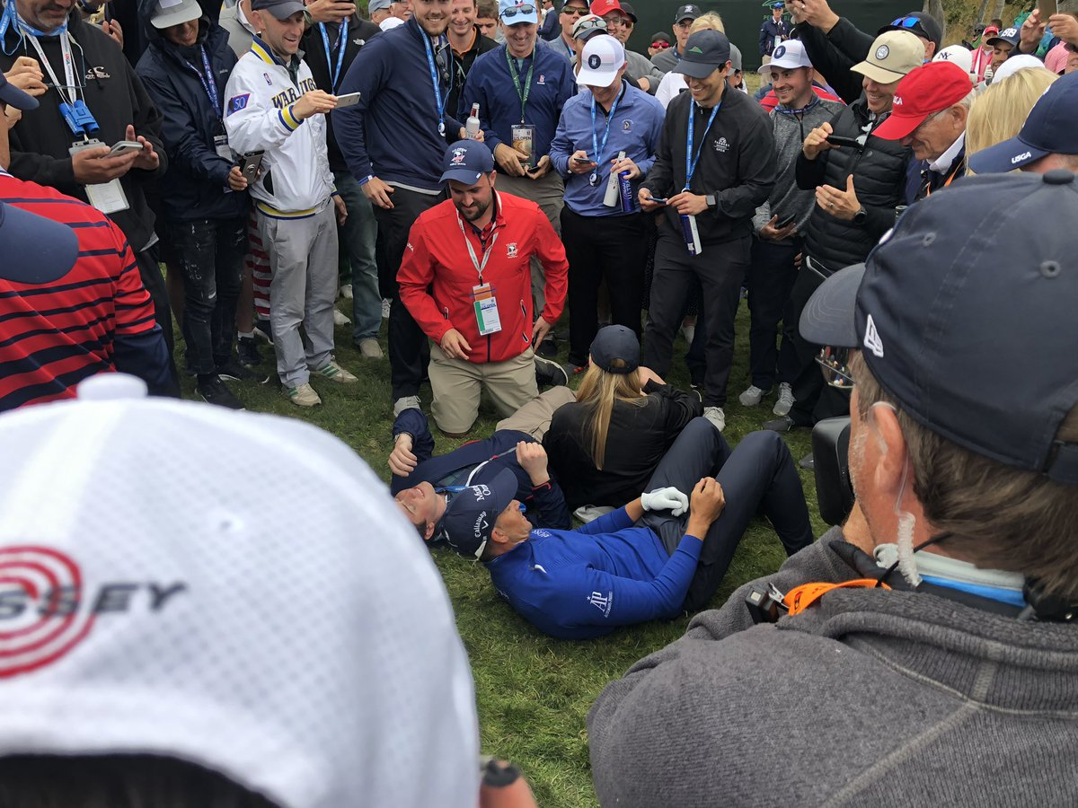 U.S. Open 2019: Henrik Stenson knocked a fan out with a semi-shank...then posed for a selfie on the ground (Update: the selfie is glorious)