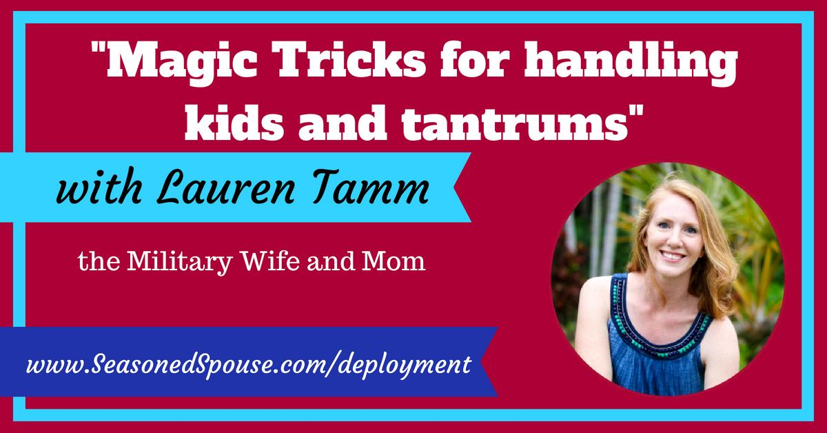 Being a solo parent during deployment is HARD. Milspouse Lauren Tamm of @mommilitarywife shares her secret tips for handling tantrums and deployment challenges in the Deployment Masterclass: http://www.SeasonedSpouse.com/deployment/  #milso #milspouse #mom #soloparent #ThisisDeployment
