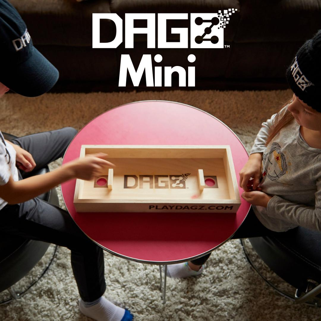 The DAGZ mini is 50% the scale of the #DAGZ table topper and is ready to travel with YOU!n#fathersday #boardgames #dice #tabletopgames #playdagz #games #smallbusiness #bargames #giftidea #bargames https://buff.ly/2IdyuML
