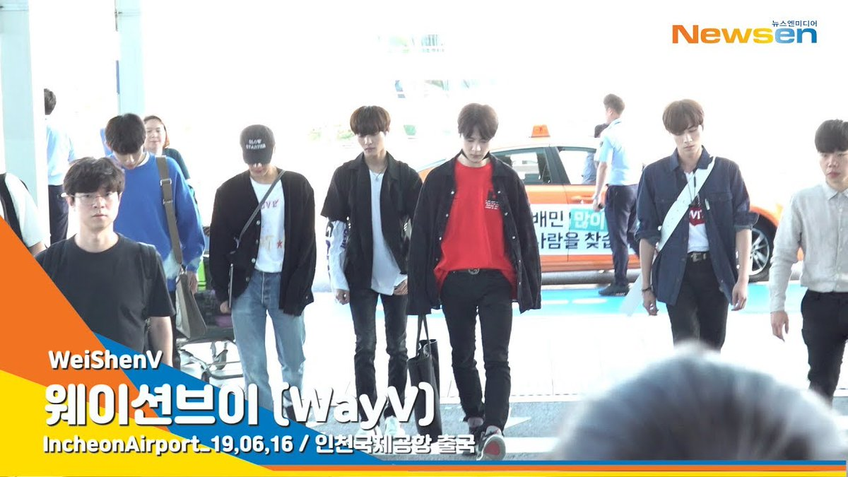 190616 [PRESS] WayV @ Incheon Airport heading to Shanghai, China. youtu.be/cnRSAUzT8XI @WayV_official @NCTsmtown