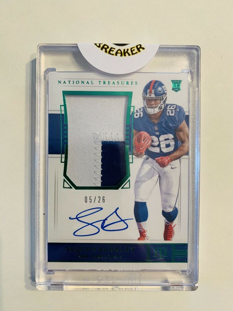2018 NATIONAL TREASURES- SAQUON BARKLEY - ROOKIE AUTOGRAPH - JERSEY RELIC - 5/26: $1,151.00 (29 Bids) End Date: Saturday Jun-15-2019 20:05:02 PDT Bid now | Add to watch list https://t.co/gal62pPzCp https://t.co/KRaMRTgdpj