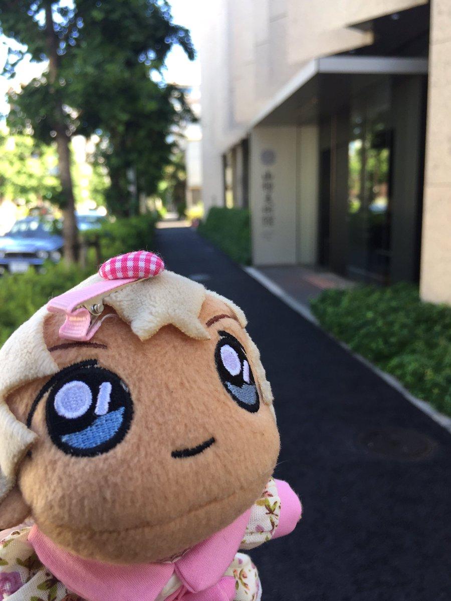 #あむぬい #ぬいすたぐらむ   #東京ぬい旅    着きましたよ。おふねちゃんをみまちゅよ。速水御舟氏=おふねちゃん