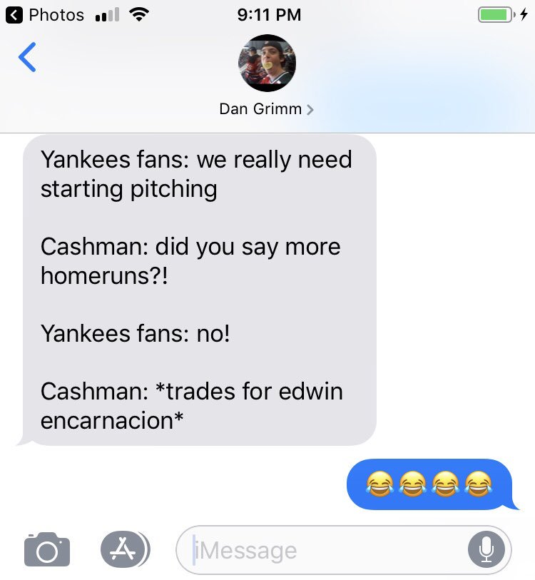 FANS!! Let us know how you feel about the Encarnacion trade! This was sent to the pod by guest and friend of the show... @DanGrimm3  🎧 🎤 #yankees #trade #encarnacion #mariners #mlb #yankeesIG #baseball #fanalyzethis #text