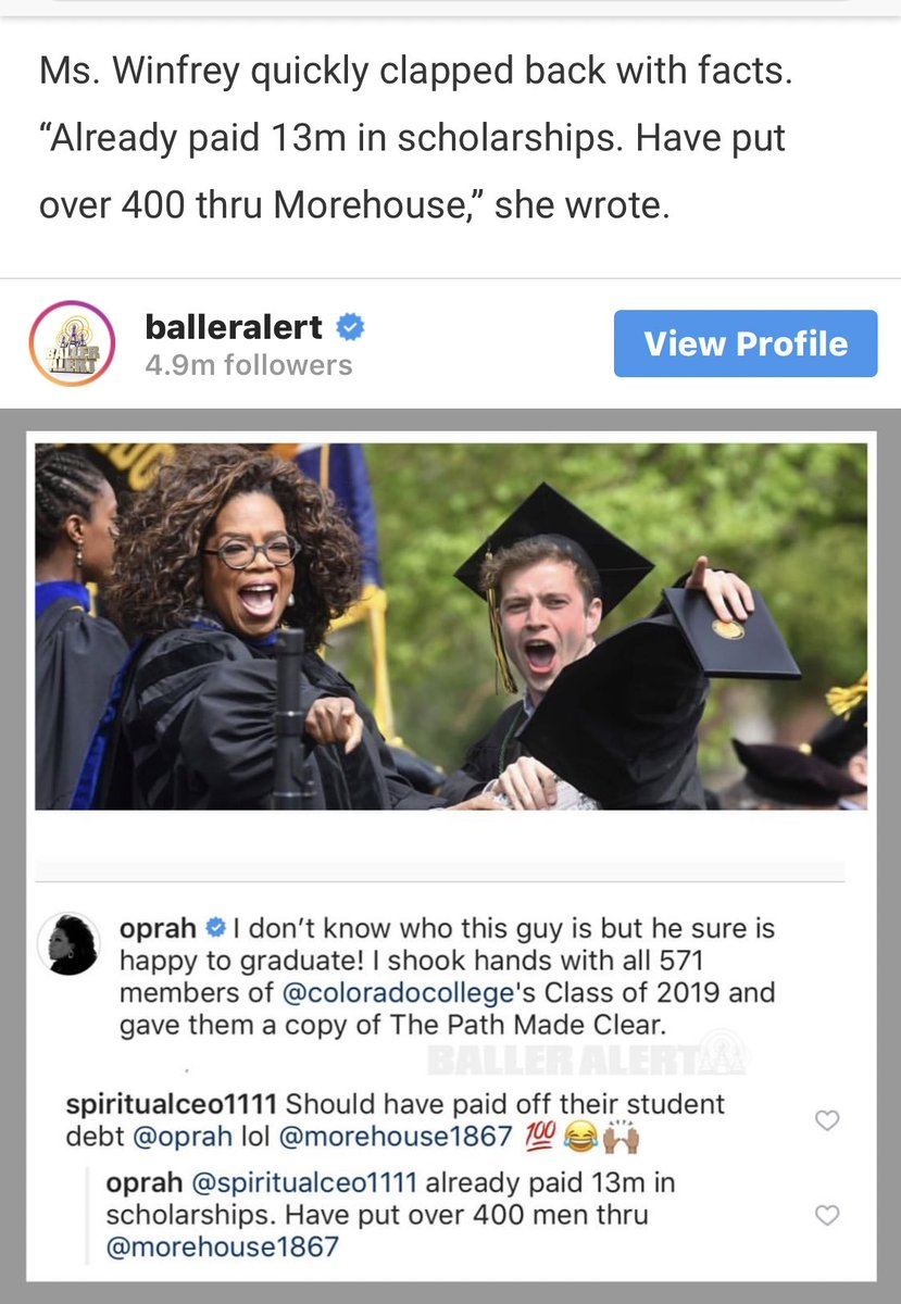 This conversation about Oprah is mind boggling. How can we even begin to question her generosity?