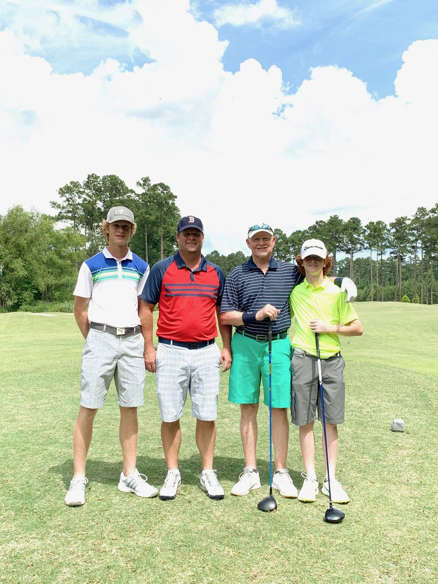 Father/Son (and Grandpa) tournament at Greystone today.   We had a great time. @_Big_Bird_12 @Carson_Cov19 https://t.co/cbE6BnpSx9