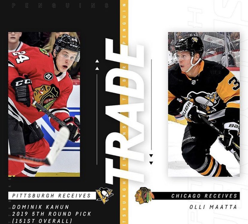 The Chicago Blackhawks have just acquired Olli Maatta from the Pittsburgh Penguins in a trade. #CK_SportsNews #Trade #NHL #Blackhawks #Penguins