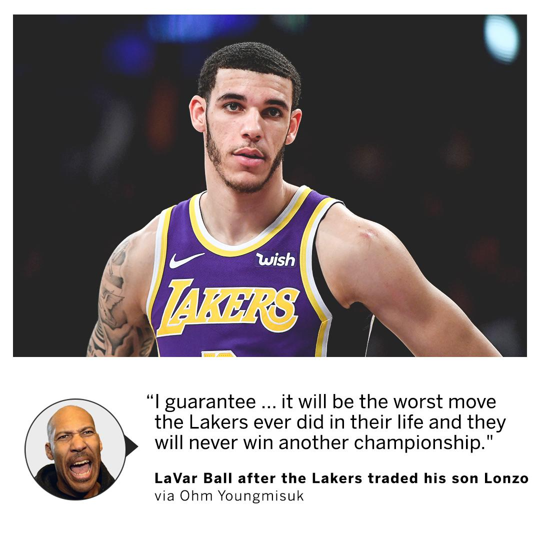 LaVar Ball says no more championships for the Lakers 🔮 (via @NotoriousOHM)