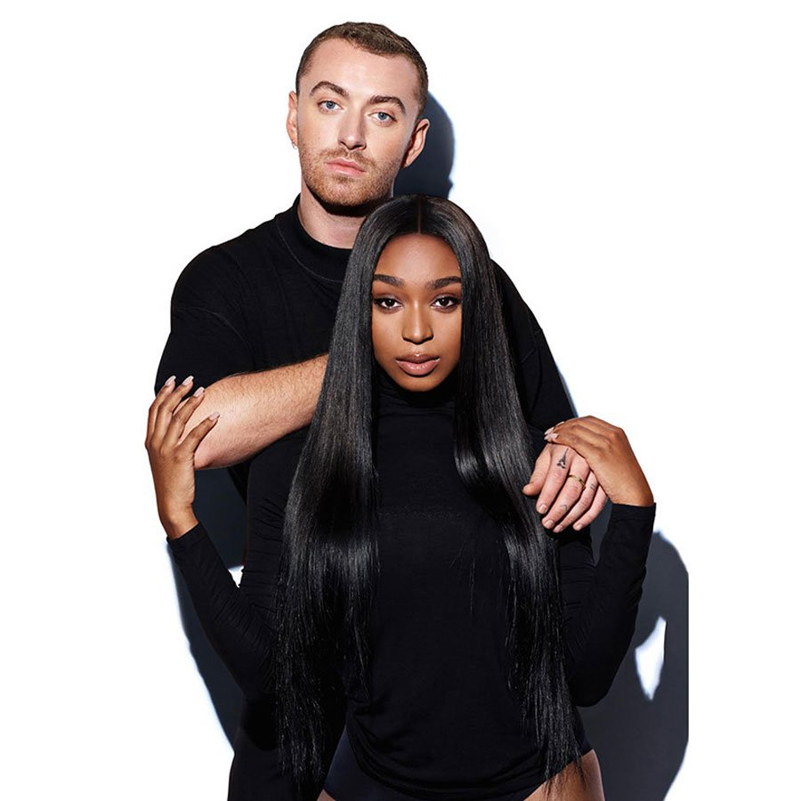 Last week on #AT40, #SamSmith & #Normani reached #1 with #DancingWithAStranger, marking the second time that each performer has hit #1. Sam first did in 2014 with #StayWithMe and Normani's first was #LoveLies last year.<br>http://pic.twitter.com/oaTQwesSNl