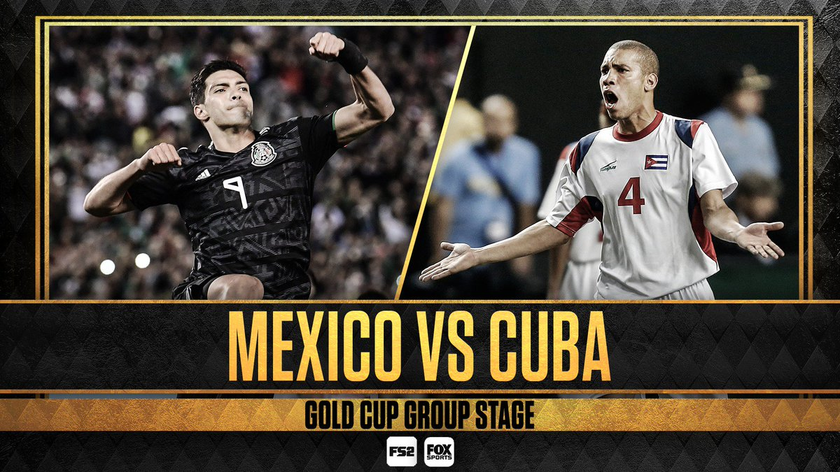 The race for #GoldCup2019 is on!   Mexico and Cuba kick off at the Rose Bowl now on FS2!  <br>http://pic.twitter.com/cQiJoI92g3