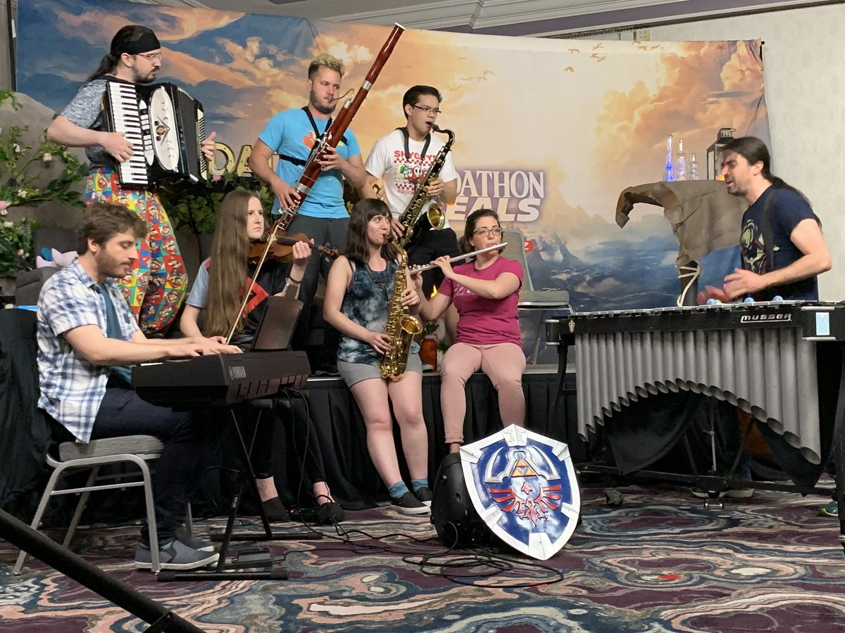 Work hard, play hard! Share some love for our wonderful #Zeldathon musicians! <br>http://pic.twitter.com/uhyQumOPgS