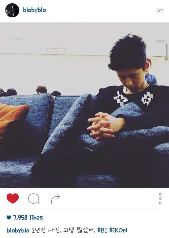 """While looking at my gallery, I saw this photo belonging to 2015 but actually had taked in 2013...  As Tablo said """"You have suffered a lot Hanbin"""" and even if it's only been 4 days, I really really miss you.   #JUS7FORiKON #HANBINSTAYWITHUS <br>http://pic.twitter.com/QuSM16NkKx"""