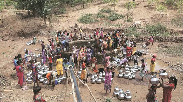 #Gujarat: 96 of the 250 tehsils, having been declared either drought-affected or scarcity-hit  #Karnataka: Of 176 talukas, 156 have been listed as drought-hit  #Maharashtra: 5127 villages & 10867 hamlets were solely dependent on tanker water supply  👉Scary Scenario #RuralIndia