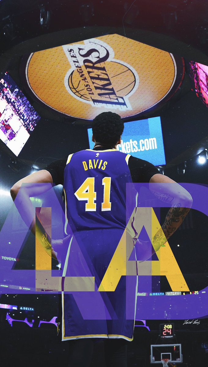RT @jakefdesign: AD in his new @Lakers threads 👀 #WallPaper #Lakers #smsports #AnthonyDavis #Trade https://t.co/NbNX8PBx44
