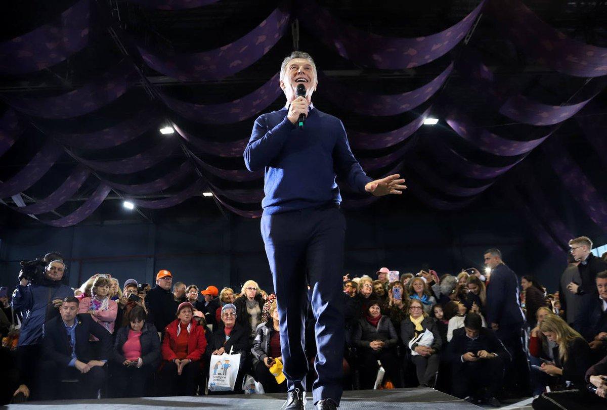 """#Elecciones2019   Macri: """"Nuestra cadena nacional son las cosas verdaderas"""""""