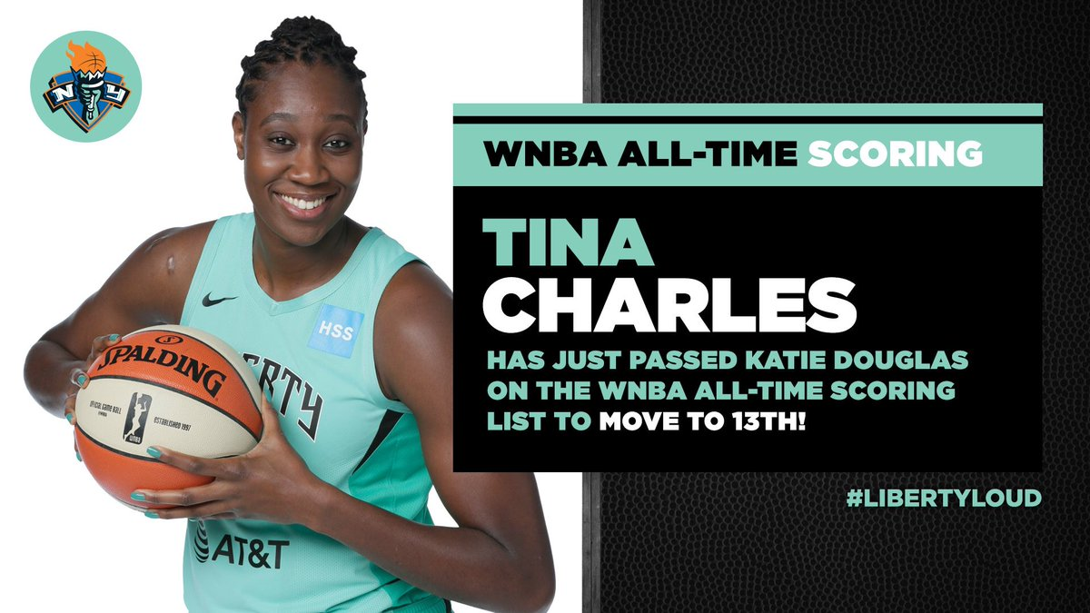 Congrats to @tinacharles31 for securing another milestone! 🗽