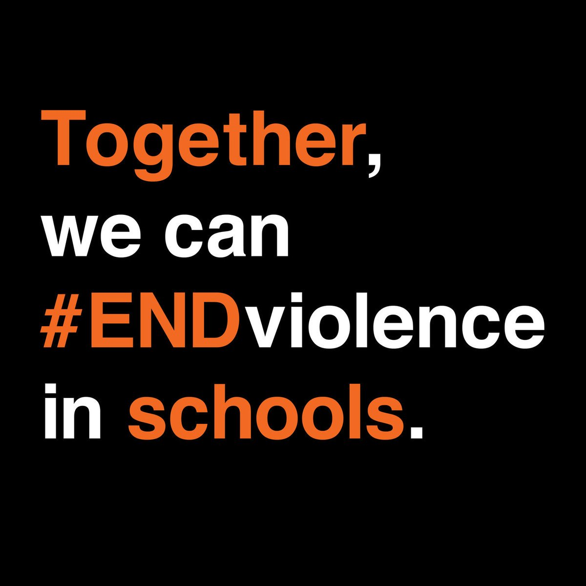End name-calling. End harassment. End abuse. End hate. #ENDviolence. 1 in 3 students aged 13-15 experience bullying. Every child has a right to be safe. @srsgvac v/@unicef