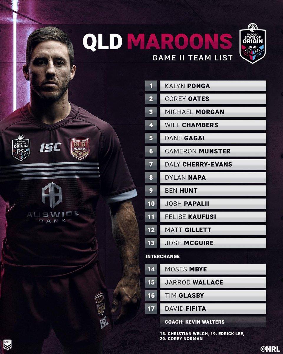 Full @QLDmaroons squad 💯  Well done boys 👏