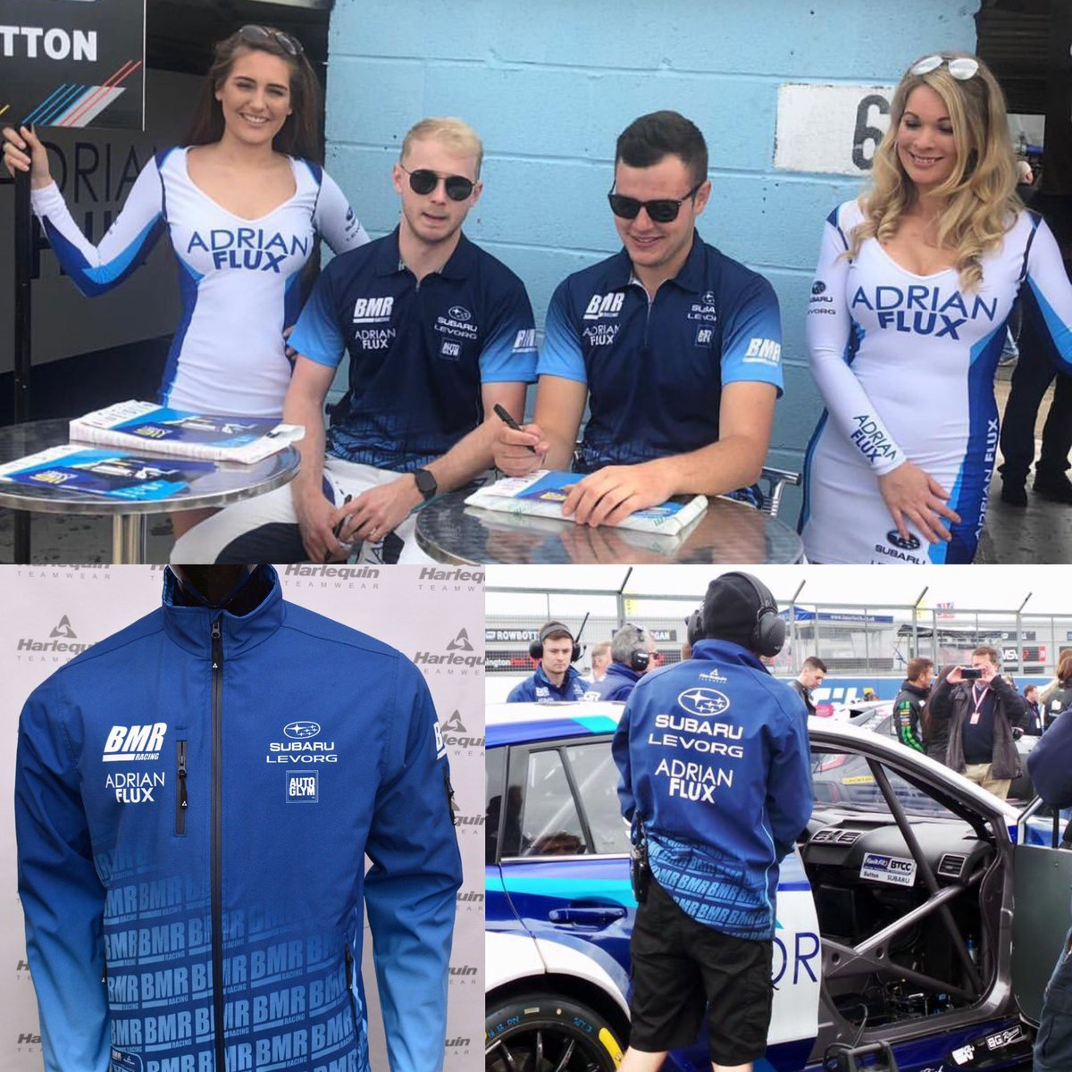 Supporters of @TeamBMRRacing Subaru, @ASuttonRacing & @SennaProctor?  Visit Harlequin in the Trade Area to get your 2019 BMR @AdrianFlux Subaru Levorg Teamwear, as worn by your favourite drivers & team!  Fingers crossed it's another success filled race day at Croft 🏆🏁  #BTCC