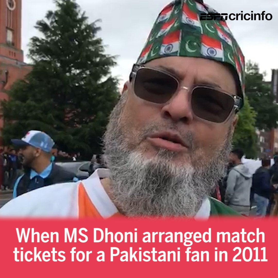 Dhoni knew I was a 🇵🇰 fan, but all I have got is love Outside Old Trafford, @NagrajGollapudi catches up with the man who got tickets from the 🇮🇳 captain in 2011 es.pn/2KScWXJ #CWC19 #INDvPAK
