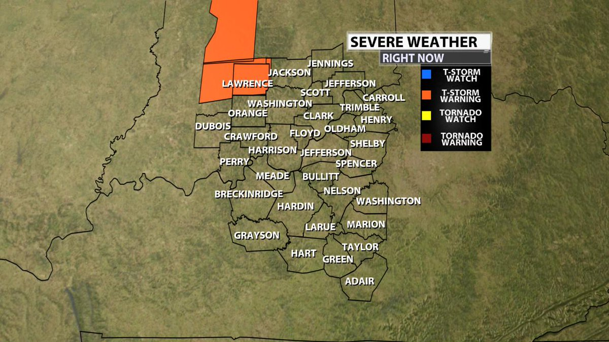 Severe Weather Update... A Watch or Warning has been issued.  Tune to WDRB Weather for more details.  #inwx #kywx