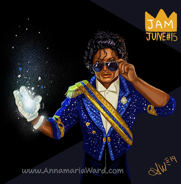 #JamJune Number 15 Grammys Magic. Taking the shades off for the girls on the balcony. I'm doing a June challenge I'm calling JAM June! Drawing one MJ fanart piece every day. You can VOTE on my Instagram for what I should draw next. #michaeljackson #illustration #moonwalker #mjfan<br>http://pic.twitter.com/OIbUTVEt5B
