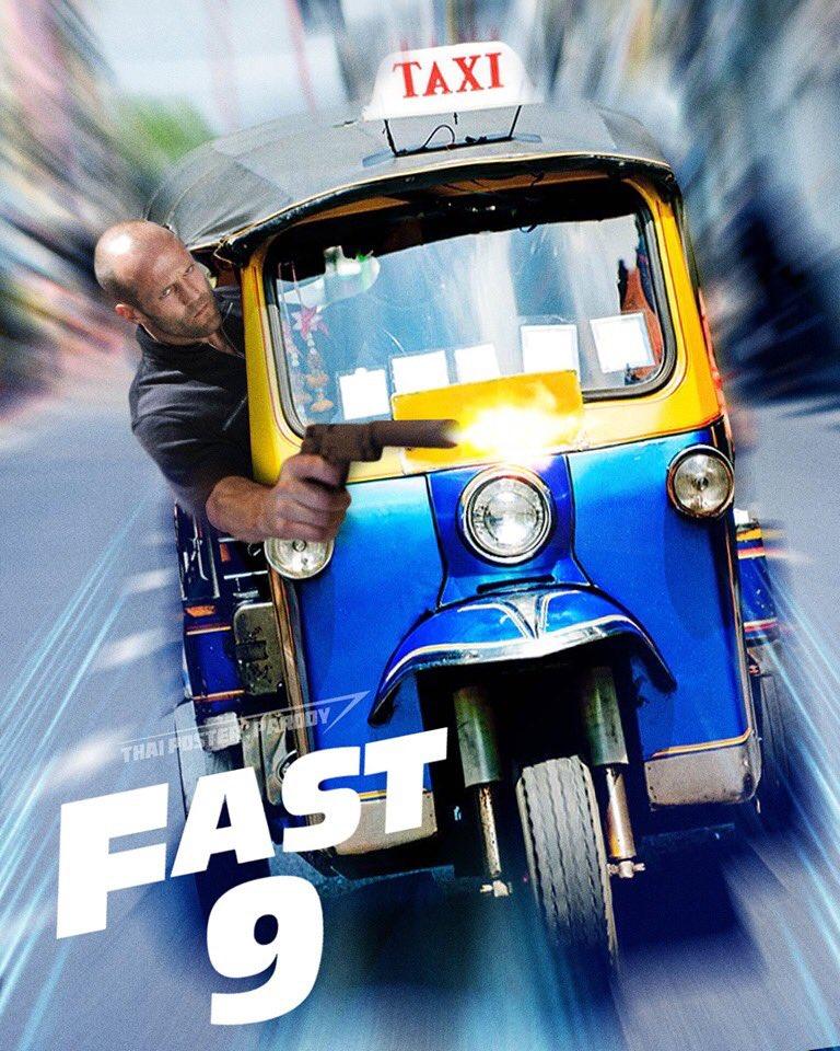 เมื่อคุณรู้ข่าวว่า #Fast9  จะมาถ่ายทำที่เมืองไทย ภาพในหัวมันก็จะประมาณนี้😂😂