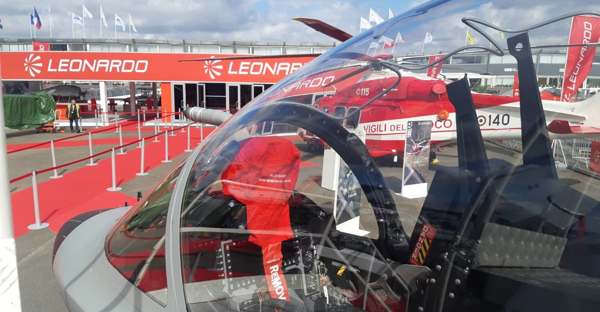 We are putting the final touches to our #PAS19 static display and looking forward to getting everything set-up for tomorrow! Come visit us at @salondubourget http://lnrdo.co/PAS19 #AW139 #M346FA #LeonardoPAS