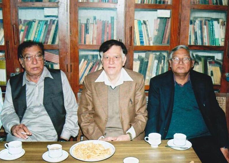 Abba with another great Urdu Poet Ahmad Faraz sahab  Noted