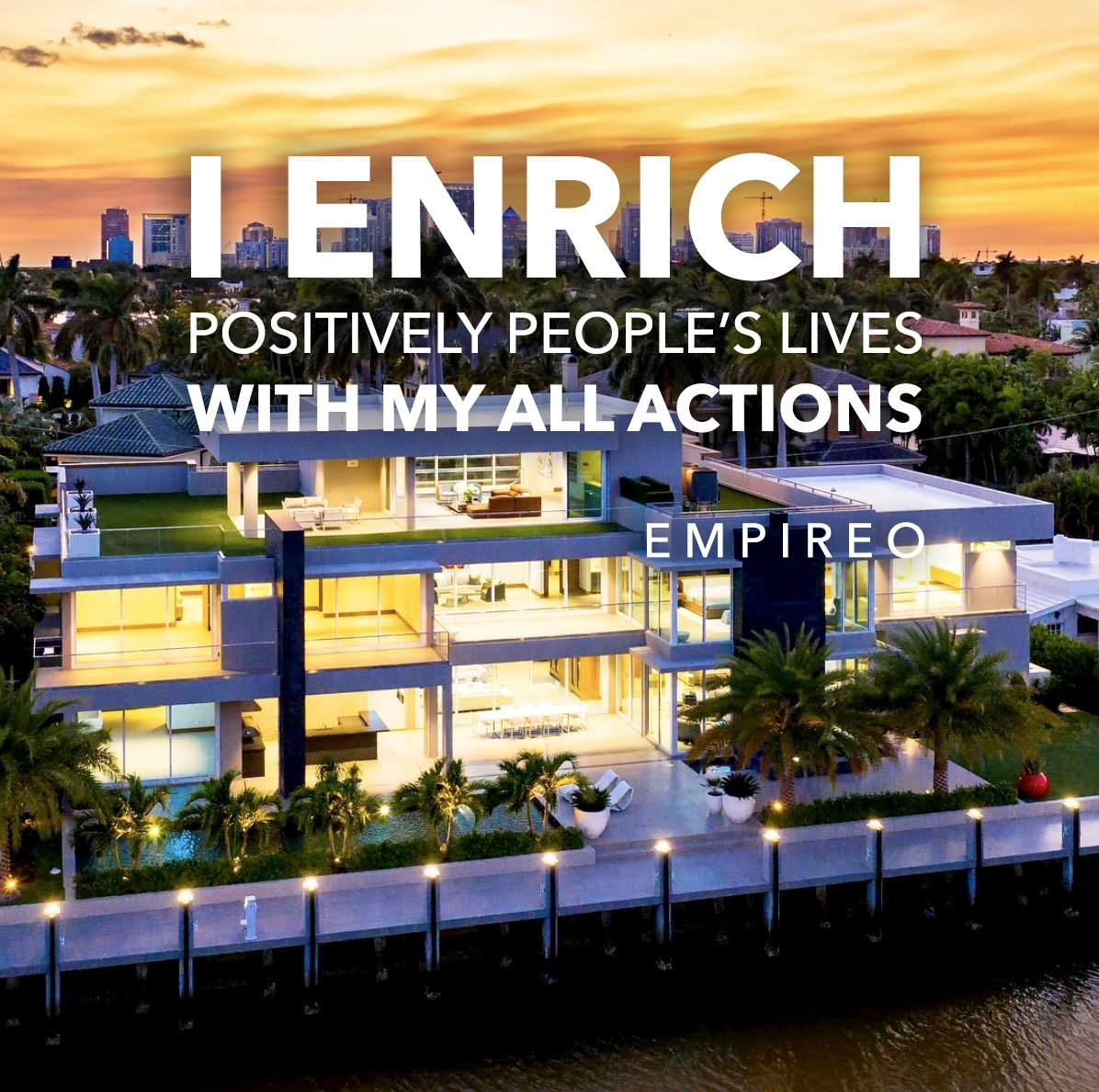 """#ENRICH positively people's lives with all your actions.  """"QUANTUM LEAP TO MILLIONAIRE""""💰💎 ▶️ I want to know more about the program https://empireoquantumleap.com/  #MILLIONAIREMINDSET #LUXURYLIFE #ENRICHINGWITHEVERYACTION"""