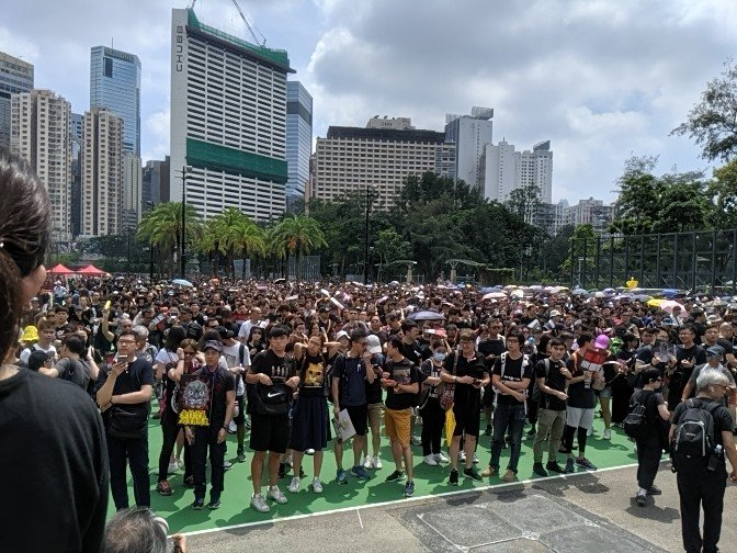 Large crowds have gathered in Victoria Park to urge the gov't to withdraw the extradition bill and to oppose the police's use of force against Wednesday's protesters. The march is set to kick off at 2.30pm.  👉In full: http://bit.ly/extraditionhk