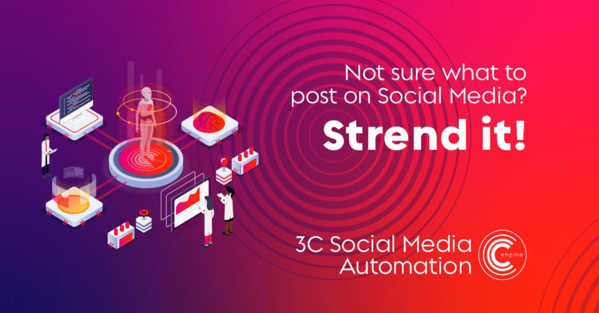 3C Social Media Automation by Strend  Not sure what to post of social media? Easily import content from your website using our UNIQUE templating system.  https://strd.it/pg  #DigitalMarketing #SSM #Marketing #SocialMedia #Software