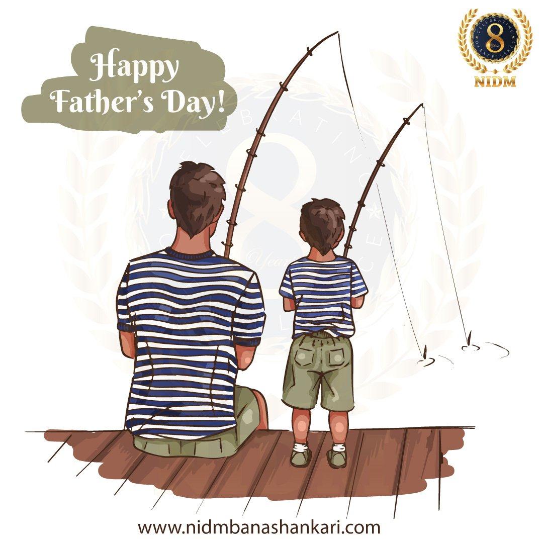 """FATHER: a son's first hero... and a daughter's first love.""  #nidmindia #digitalmarketing #nidmbanashankari #dmworkshop #bangalore #fathersday #son #daughter #love #hero #bestfriend"