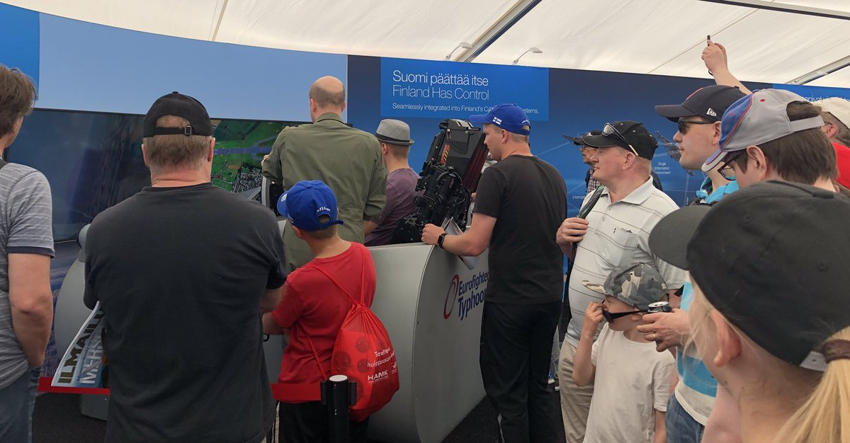 Come and see us today at #TurkuAirshow and have a go in our #Eurofighter simulator #Eurofightersuomelle @TurkuAirshow @eurofighter